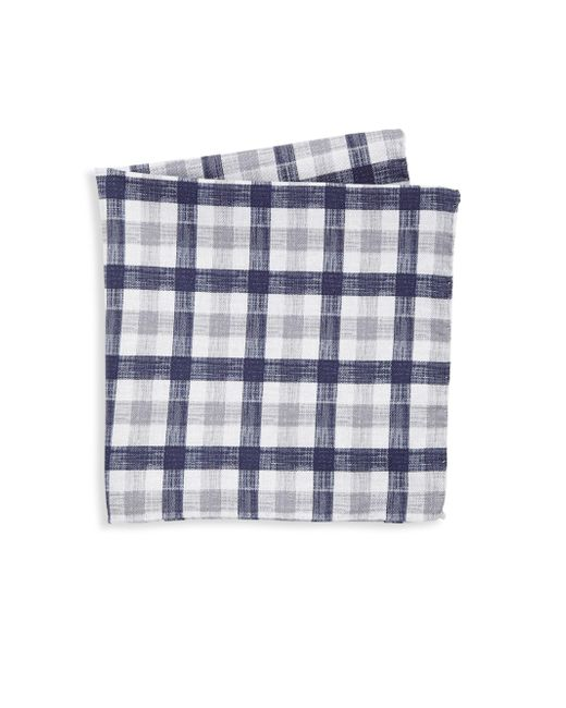 Saks Fifth Avenue | Gray Collection Reversible Plaid Pocket Square for Men | Lyst