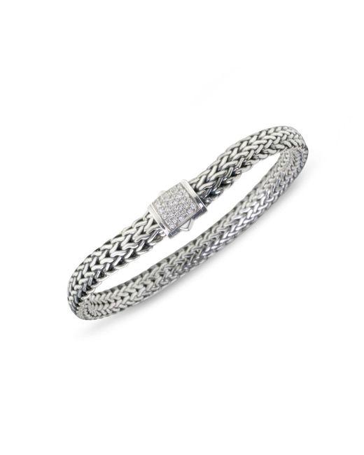 John Hardy - Metallic Classic Chain Diamond & Sterling Silver Small Bracelet - Lyst