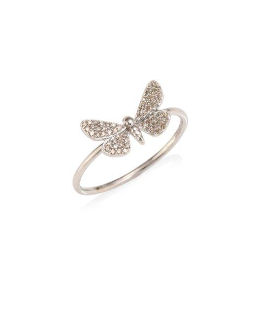 Astley Clarke | Multicolor Cinnabar Moth Grey Diamond Ring | Lyst