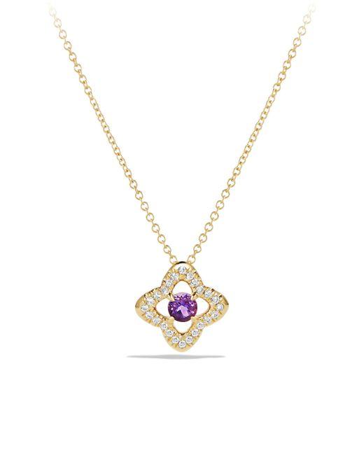 David Yurman - Metallic Venetian Tanzania & Diamond Pavé Quatrefoil Pendant Necklace - Lyst