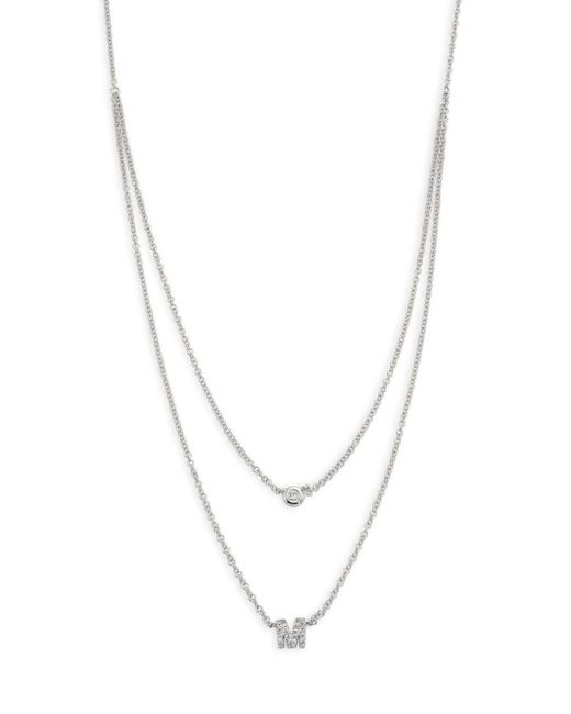 EF Collection - Metallic Diamond Bezel & Initial Pendant Necklace - Lyst
