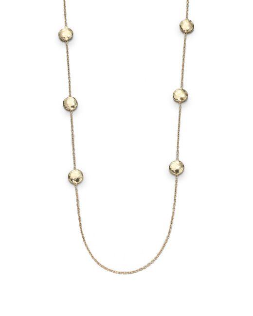 Ippolita - Metallic Glamazon 18k Yellow Gold Circle Station Necklace - Lyst
