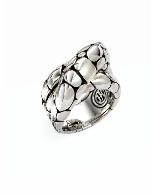 John Hardy | Metallic Kali Sterling Silver Twist Ring | Lyst