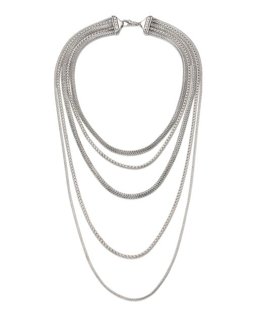 John Hardy - Metallic Classic Chain Sterling Silver Multi-strand Necklace - Lyst