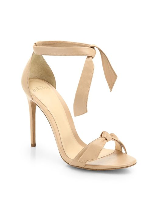 Alexandre Birman | Natural Clarita Leather Ankle-tie Sandals | Lyst