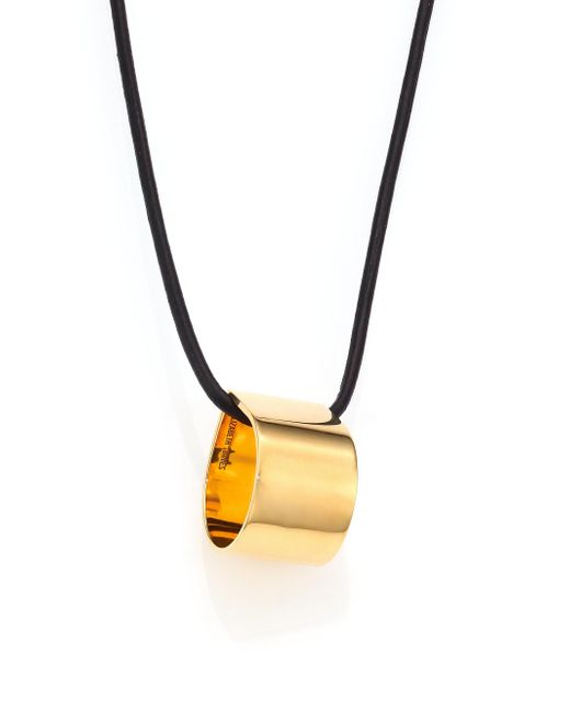 Elizabeth and James | Metallic Neri Keaton Leather Pendant Necklace | Lyst
