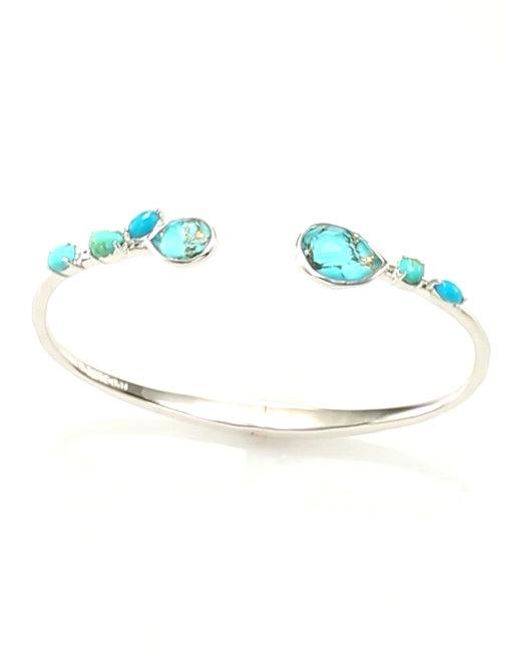 Ippolita | Metallic 925 Rock Candy Small Double Mixed Stone Stations Hinged Bangle | Lyst