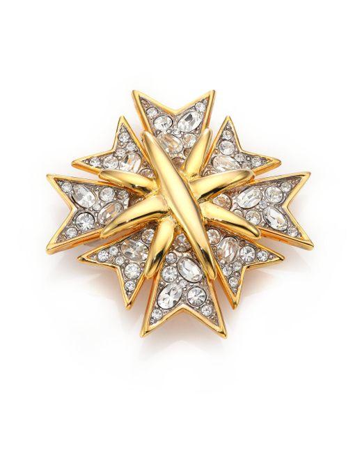 Kenneth Jay Lane | Metallic Multi Cross Pave Pin | Lyst