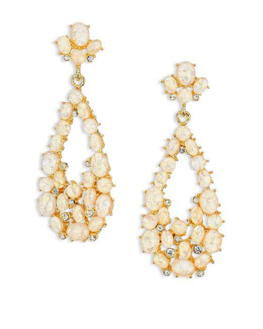 Kenneth Jay Lane   Metallic Opal Cluster Teardrop Earrings   Lyst