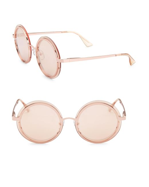 Le Specs - Multicolor Ovation Rose Gold Circle Sunglasses - Lyst