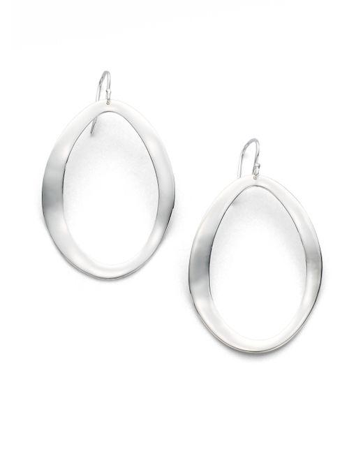Ippolita | Metallic Glamazon Scultura Sterling Silver Large Wavy Oval Drop Earrings | Lyst