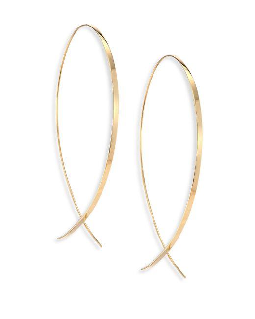 Lana Jewelry | Metallic Upside Down Large 14k Yellow Gold Flat Hoop Earrings/1.25 | Lyst