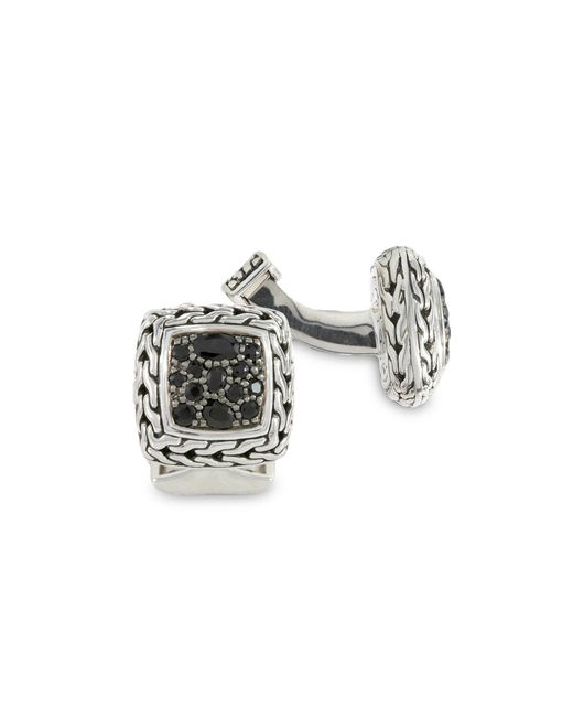 John Hardy - Metallic Sapphire Square Cuff Links for Men - Lyst