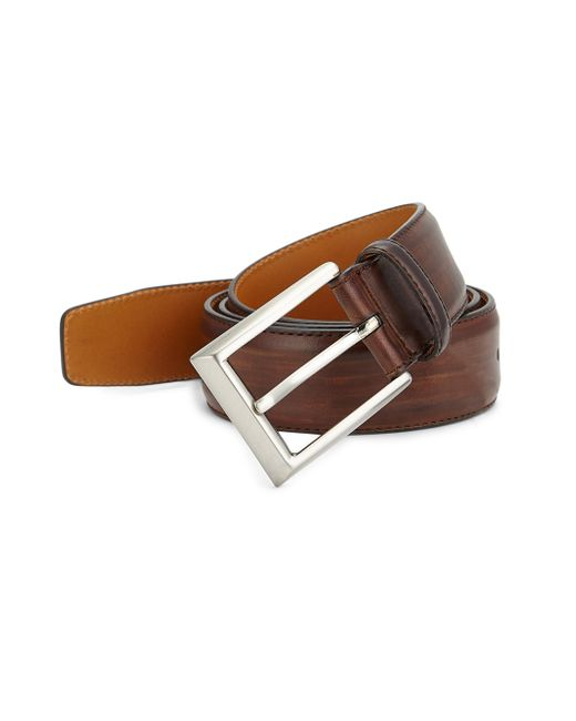 Saks Fifth Avenue - Multicolor Collection By Magnanni Leather Buckle Belt - Lyst