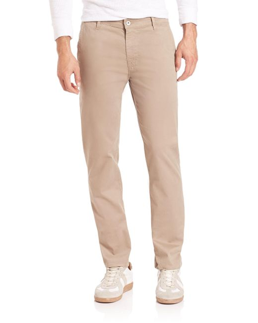 Saks Fifth Avenue - Natural Lux Straight Leg Pants for Men - Lyst