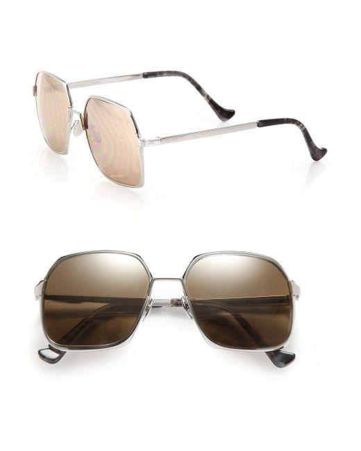 Cutler & Gross - Gray 55mm Oversized Metal Sunglasses - Lyst