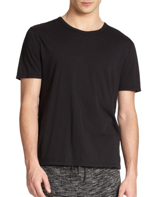 T By Alexander Wang | Black Classic Crewneck Tee for Men | Lyst