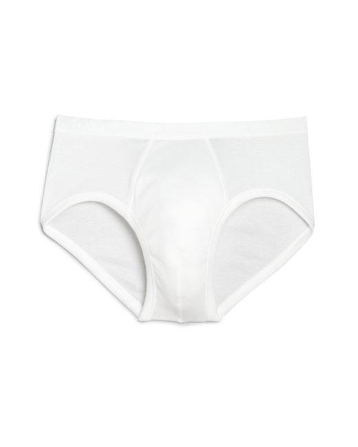 Hanro - White Cotton Pure Briefs for Men - Lyst