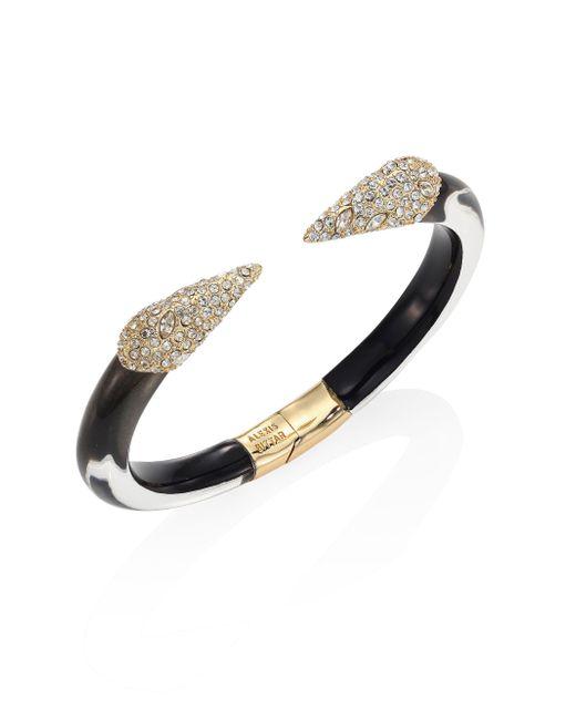 Alexis Bittar | Metallic Titan Lucite & Crystal Cuff Bracelet | Lyst