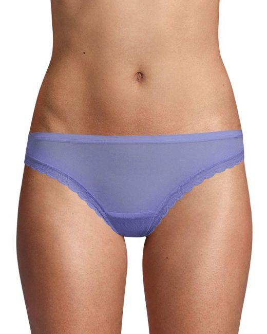 On Gossamer - Purple Next To Nothing Sheer Bikini - Lyst