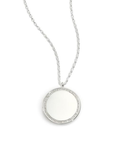 Astley Clarke - Metallic Cosmos Diamond & Sterling Silver Medium Locket Necklace - Lyst