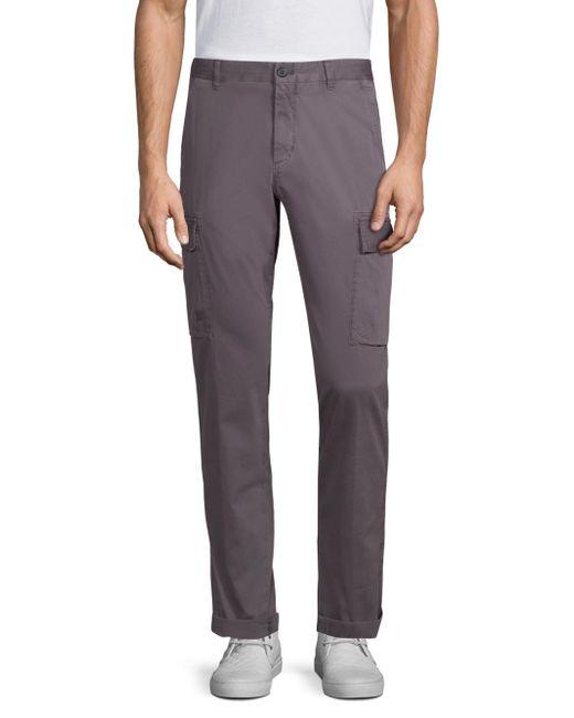 Strellson - Gray Kit Medium-fit Cargo Pants for Men - Lyst