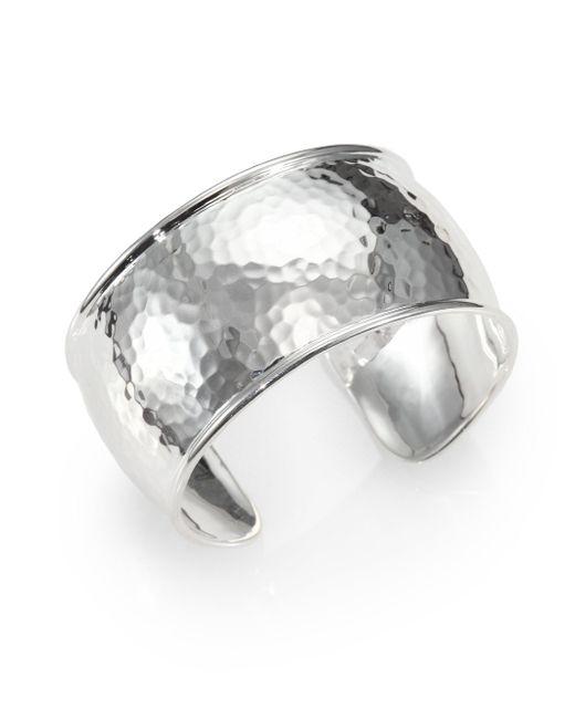 Ippolita - Metallic Glamazon Sterling Silver Flat Cuff Bracelet - Lyst