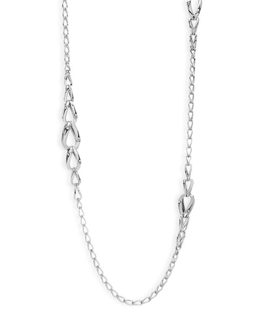 John Hardy - Metallic Bamboo Sterling Silver Link Necklace - Lyst