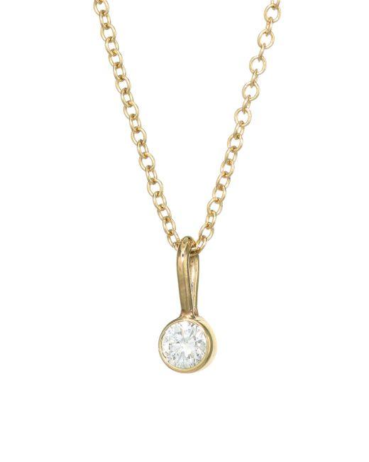 Zoe Chicco - Metallic 14k Yellow Gold & Diamond Chain Pendant Necklace - Lyst