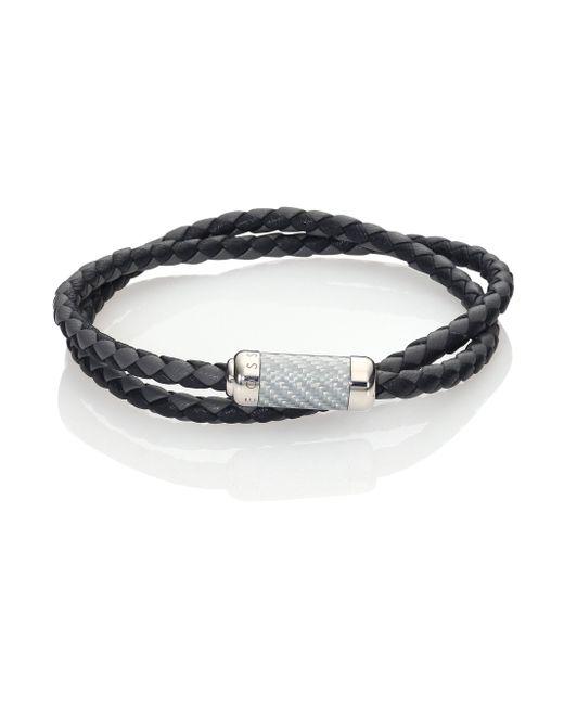 Tateossian   Metallic Leather & Sterling Silver Bracelet   Lyst