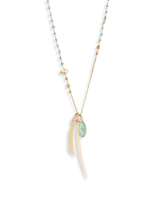 Chan Luu - Long Semi-precious Green Mix Pendant Necklace - Lyst