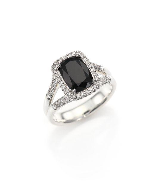John Hardy   Metallic Classic Chain Batu Diamond, Black Onyx & Sterling Silver Ring   Lyst