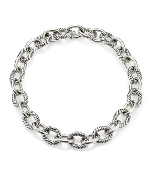 "David Yurman - Metallic Oval Extra-large Link Necklace/17"" - Lyst"