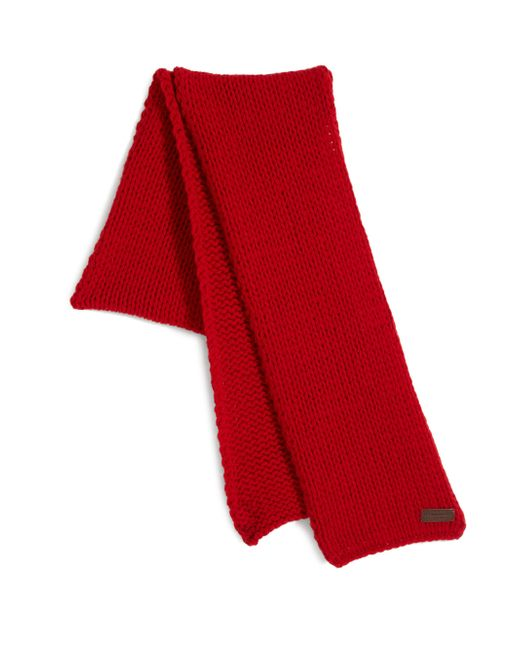 DSquared² | Red Knit Wool Scarf for Men | Lyst