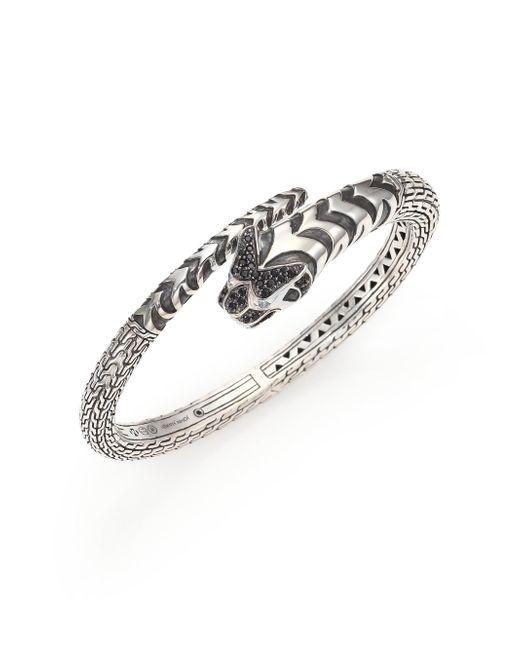 John Hardy - Metallic Legends Macan Black Sapphire Lava, Swiss Blue Topaz & Sterling Silver Cuff Bracelet - Lyst