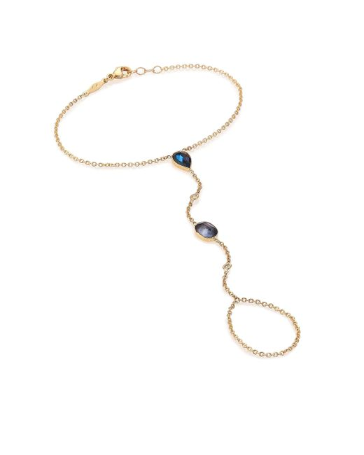 Jacquie Aiche - Metallic Blue Topaz, Diamond & 14k Yellow Gold Hand Chain Bracelet - Lyst