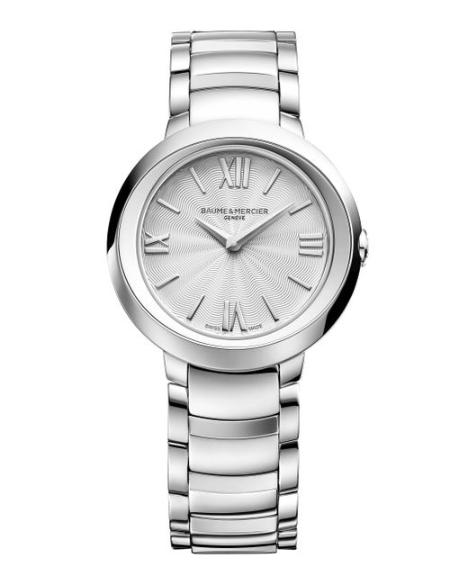 Baume & Mercier - Metallic Promesse 10157 Stainless Steel Bracelet Watch - Lyst
