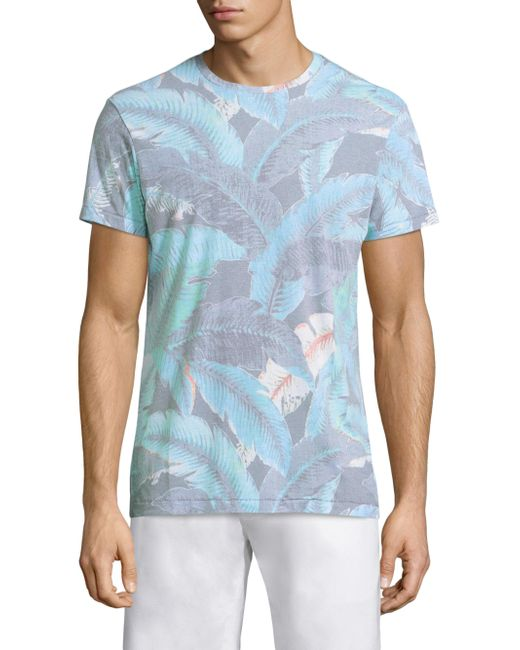 Sol Angeles - Blue Lanai Leaf Crew for Men - Lyst
