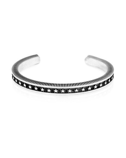 King Baby Studio - Metallic Sterling Silver Coin Edge Cuff Bracelet - Lyst