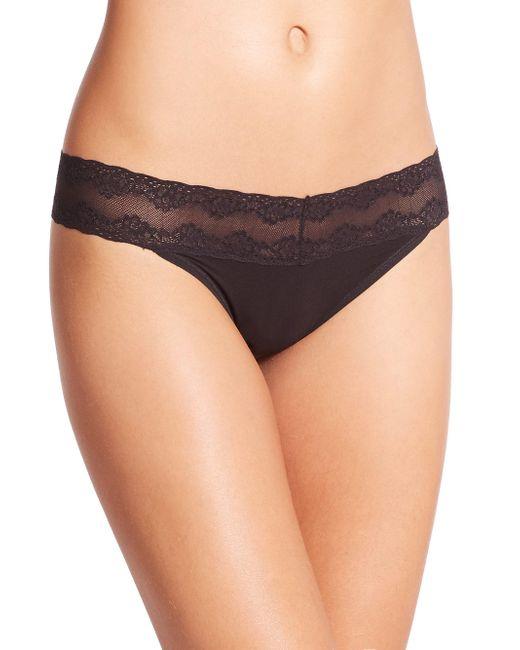 Natori - Black Bliss Perfection One-size Thong - Lyst