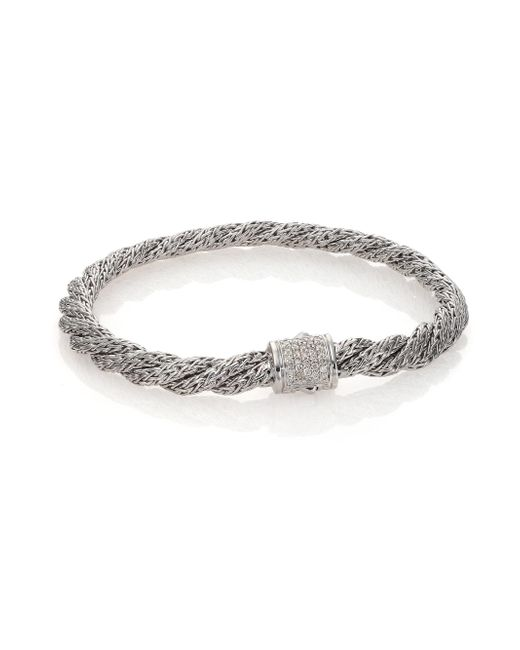 John Hardy - Metallic Classic Chain Diamond & Sterling Silver Extra-small Twisted Bracelet - Lyst