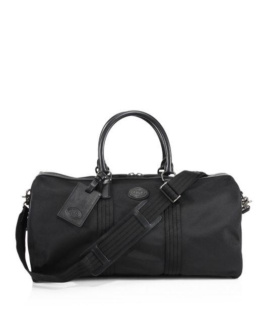 Polo Ralph Lauren | Black Thompson Duffel Bag for Men | Lyst