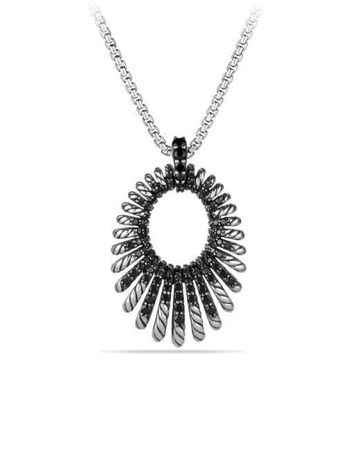 David Yurman | Metallic Tempo Pendant Necklace With Black Spinel | Lyst