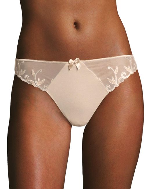 Simone Perele - Brown Andora Cotton Cheeky Panty - Lyst