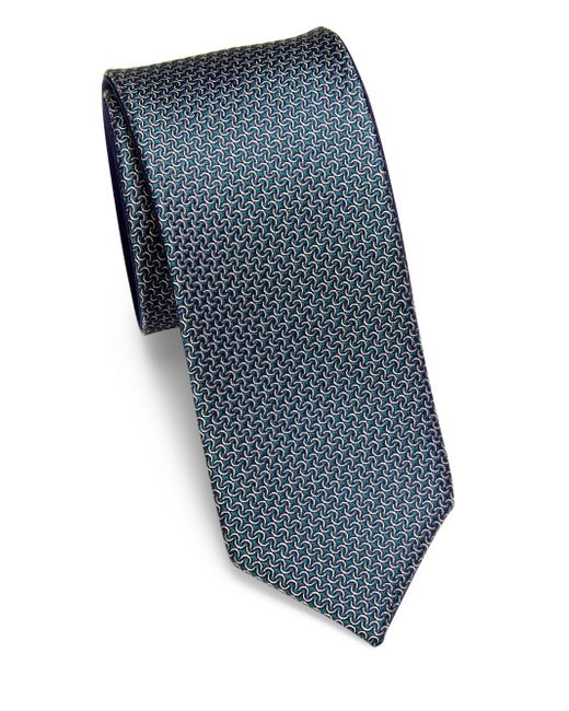 Saks Fifth Avenue | Blue Mini Links Silk Tie for Men | Lyst