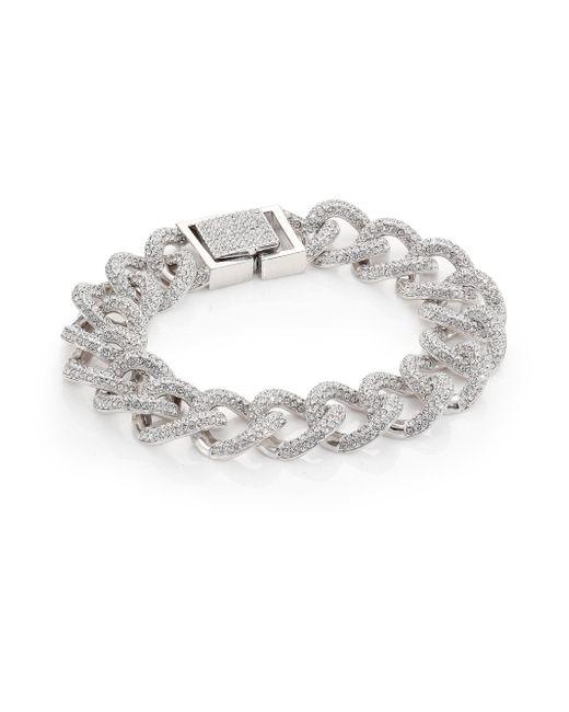 Adriana Orsini - Metallic Pave Curb Chain Bracelet - Lyst