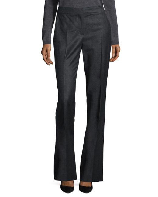 Max Mara | Gray Pedone Stretch Wool Pants | Lyst
