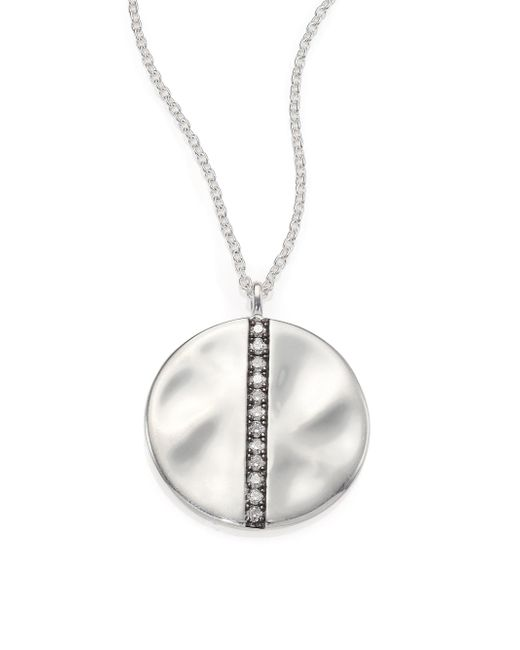 Ippolita - Metallic Glamazon Stardust Diamond & Sterling Silver Large Disc Pendant Necklace - Lyst