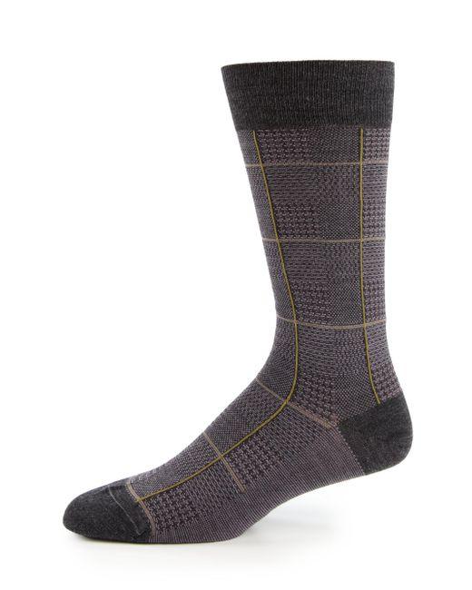 Pantherella - Gray Strachey Plaid Socks for Men - Lyst