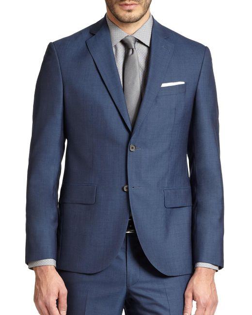Saks Fifth Avenue - Blue Modern-fit Wool Sportcoat for Men - Lyst